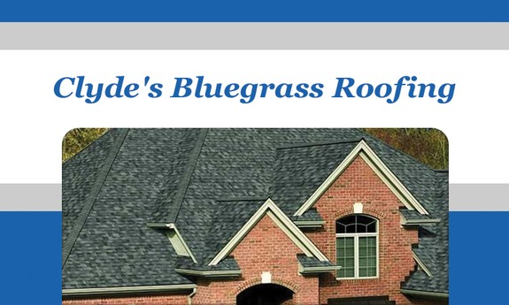 CLYDE'S BLUE GRASS ROOFING