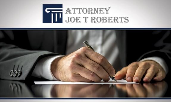 JOE T. ROBERTS ATTORNEY AT LAW