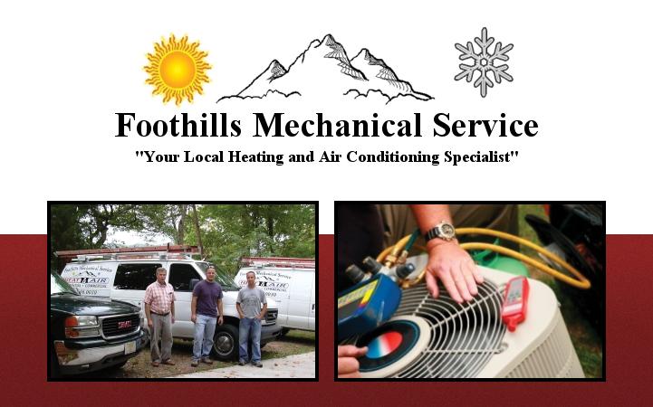 FOOTHILLS MECHANICAL SERVICE