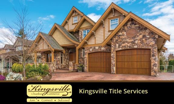 KINGSVILLE TITLE SERVICES