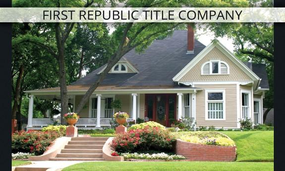 FIRST REPUBLIC TITLE COMPANY