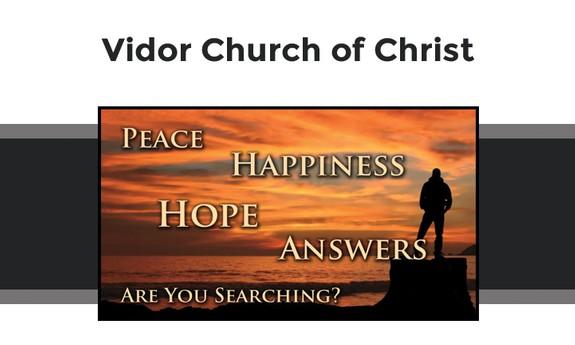 VIDOR CHURCH OF CHRIST