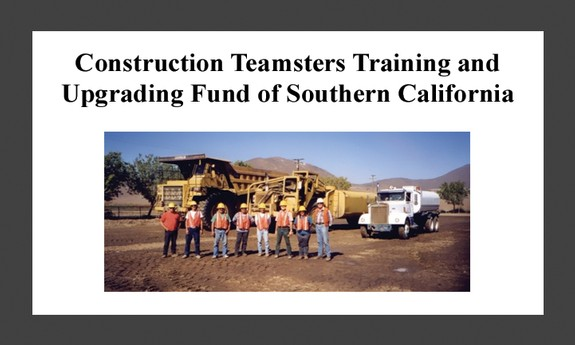 TEAMSTERS LOCAL 166 CONSTRUCTION TRAINING SCHOOL