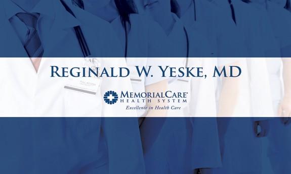 REGINALD W. YESKE, MD