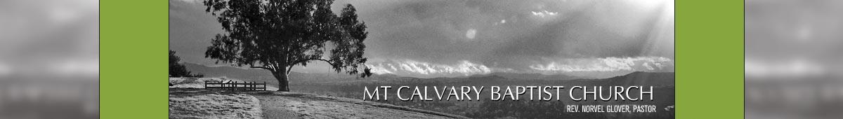 MT. CALVARY BAPTIST CHURCH