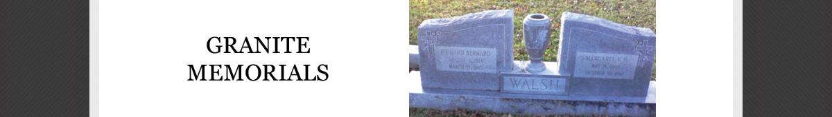 WILLIAMS GRANITE MEMORIALS